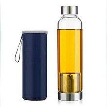 Teekugeln hochtemperaturbeständige glas wasserflasche glas tasse lemon kreative auto geschenke tassen teesieb botella de agua