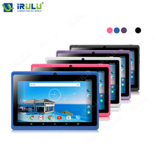 "Original irulu expro x1 7 ""android 4.4 quad core tablet 16 gb ROM de Doble Cámara de Tablet PC Soporte Wifi 2800 mAh Colores Multi Caliente"