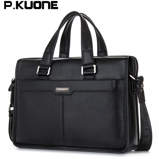 Men shoulder messenger bag men's genuine leather Business briefcase, man bag for 15.6' laptop computer 2018 male handbag 2