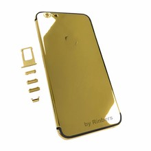New 24K 24KT 24CT GOLD ROSE GOLD PLATINUM Back Cover Housing Midframe Replacement for iPhone 6
