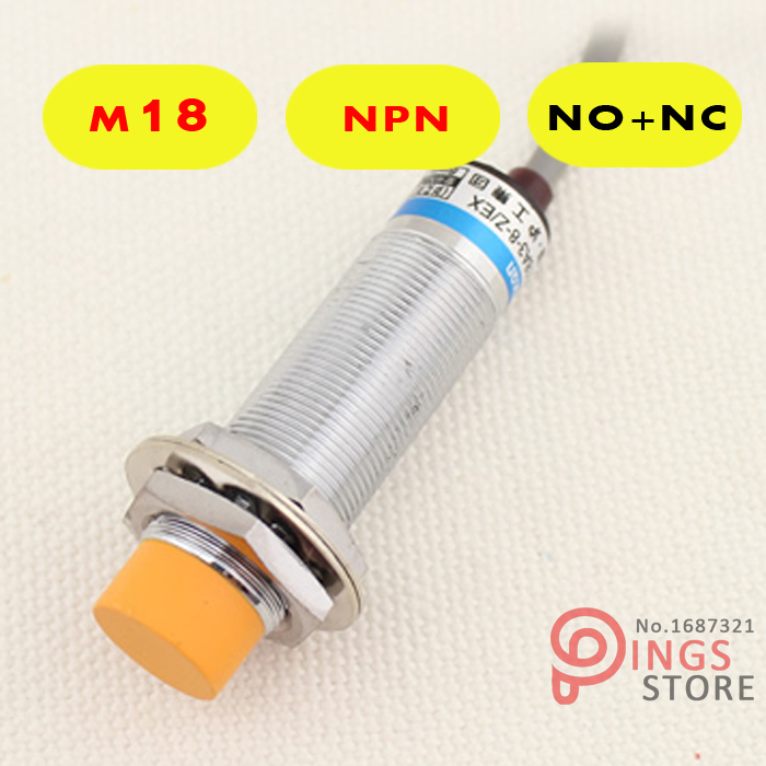 (10PCS) LJ18A3-8-Z/CX M18 Three Wire DC NPN NO+NC 8mm distance measuring Inductive proximity switch sensor m12 dc three wire pnp no 4mm distance measuring inductive proximity switch sensor lj12a3 4 z by