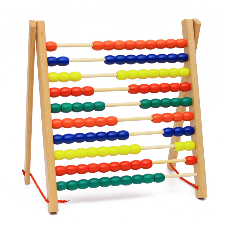Baby Toys Montessori Math Toy 10 Row Abacus Frame Wooden Toys Children Educational Gift baby toys 1 10cm blocks digital stick wooden toys child educational toys teaching montessori math toy