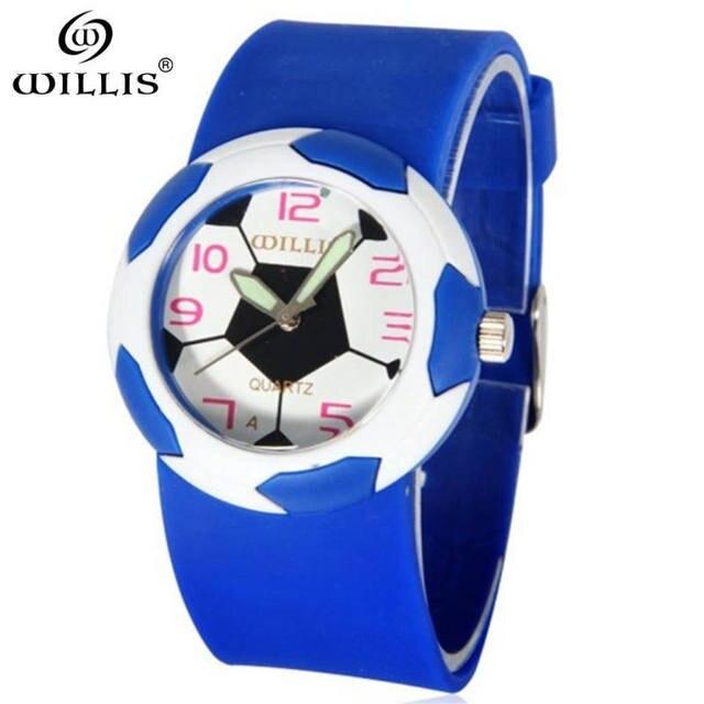 WILLIS Brand Hot Sales watch Children sports Silicone waterproof Watch football