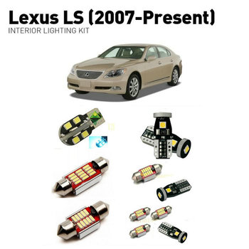Led interior lights For Lexus Ls 2007+  22pc Led Lights For Cars lighting kit automotive bulbs Canbus