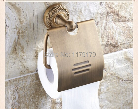 ФОТО free shipping Europen  Classic style antique brass paper Roll Holder bathroom accessoriesTC5610