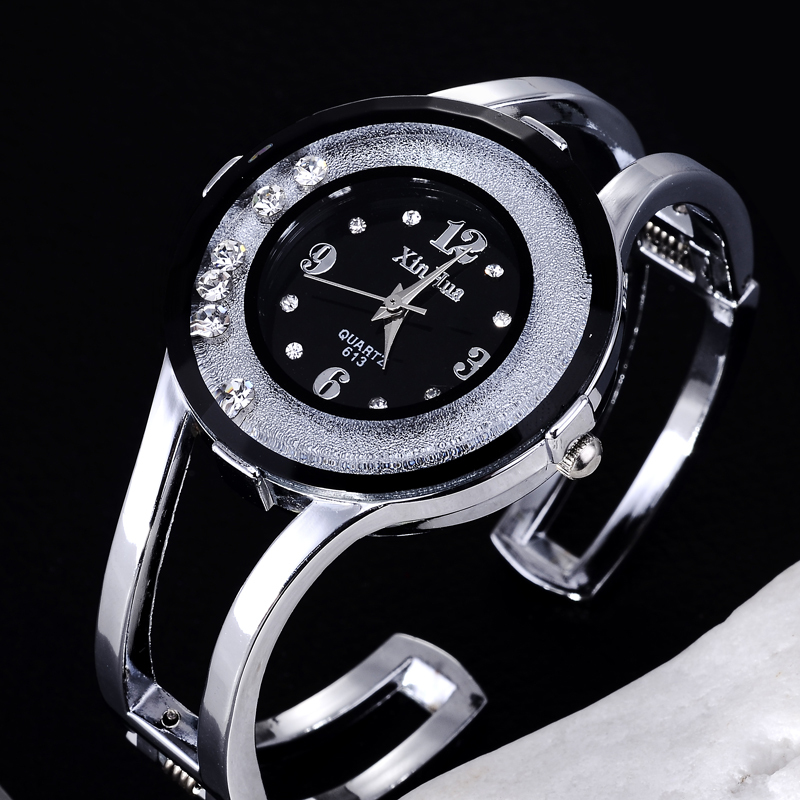 Luxury Rhinestone Bracelet Watch Women Watches Full Steel Women's Watches Ladies Watch Clock montre femme relogio feminino sinobi ceramic watch women watches luxury women s watches week date ladies watch clock montre femme relogio feminino reloj mujer