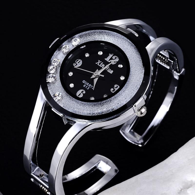 все цены на Rhinestone Bracelet Watch Women Watches Fashion Women's Watches Bracelet Ladies Watch Clock relogio feminino reloj mujer saat