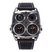 Leisure fashion large dial double movement quartz women's watches ladies watch compass men's watch