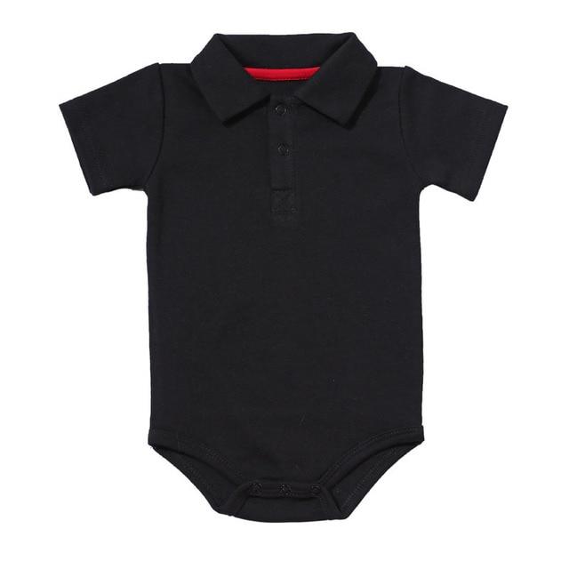 Zomer Baby Boy Meisje Rompertjes Turn-down Kraag Pasgeboren Katoen Kleding Jumpsuit Voor 0-2Y Peuters Bebe Outfits 1