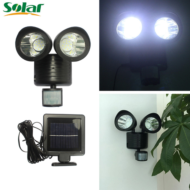 Solar Line Lights Part - 17: Solar Spotlight With 3m Line 22 LED Waterproof Garden Yard Wall Solar Lights  For Outdoor Or