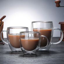 Coffee Cups Tea Mugs Handmade Creative Office Insulation Transparent Drinkware Double Glass