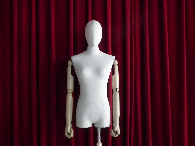 The Environmental protection materials, FRP WRAPPED LINEN torso mannequins with egg head for showcase