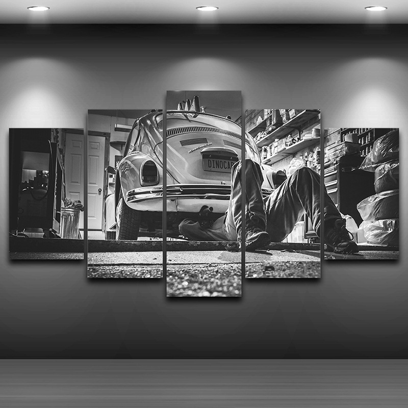 spray oil painting decoration hd printed home decor artistic print painting on canvas wall art pictures framed old car ae0178