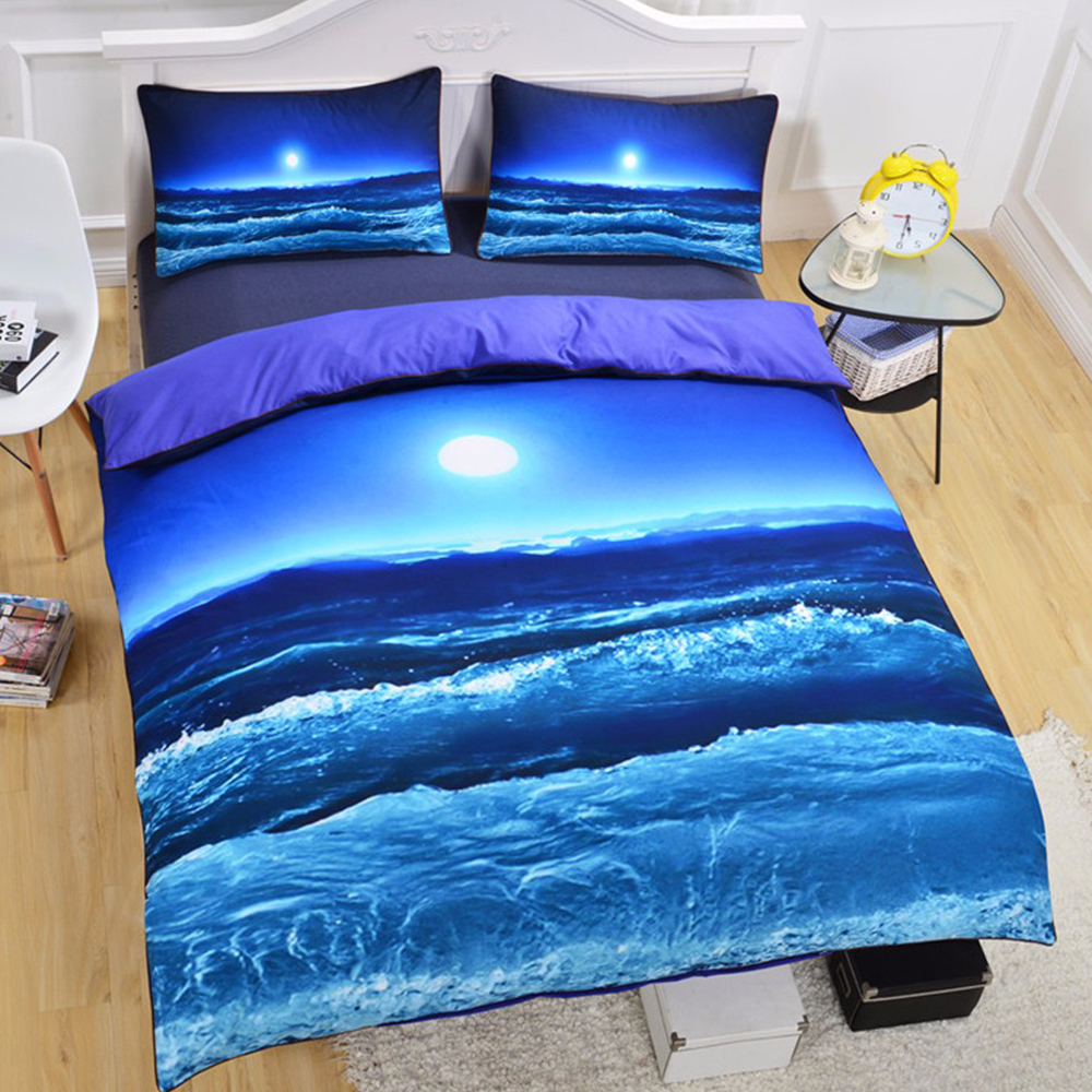 beddingoutlet moon and ocean duvet cover set bed spread cool 3d