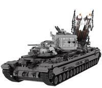 Lepin 06006 New Creative Military kv 2 Tank Missile Truck Model Building Blocks Compatible with Bricks For Children Toys Dream