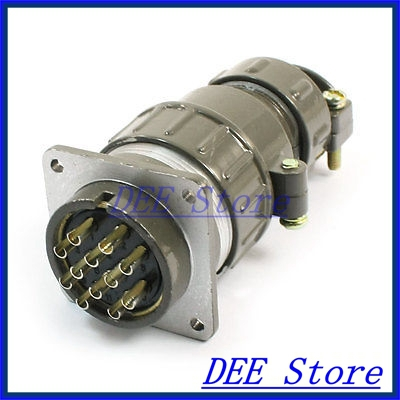 Waterproof Aviation Plug Pannel Connector Adapter 12 Pin P32-12 Core