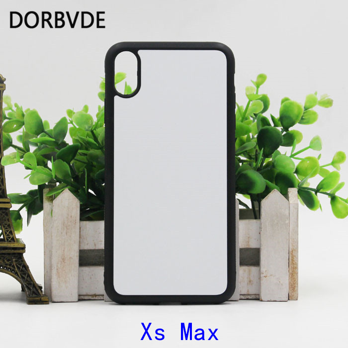 2D Sublimation Case TPU PC Rubber DIY Back Cover for iphone XR 6 1 Xs Max