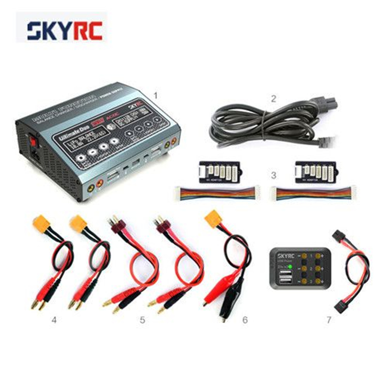 SKYRC Ultimate D250 250W 10A 1-6S AC/DC Balance Charger Discharger Power Supply skyrc sk 800084 01 b6 mini 6a 60w dc11 18v professional balance charger discharger w t 2 6lcd