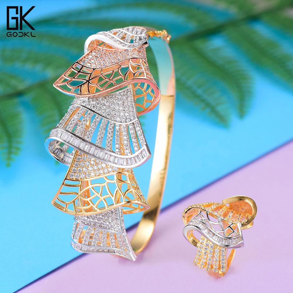 GODKI Luxury Cubic Zircon Crystal CZ Jewelry Sets For Women Wedding African Bridal Bangle Ring Set aretes de mujer modernos 2018 ноттенбелт д паскоу р атлас болезней лошадей