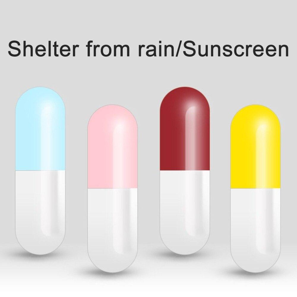Foldable Mini Pocket Umbrella Anti UV Compact Fast Drying With Capsule Case