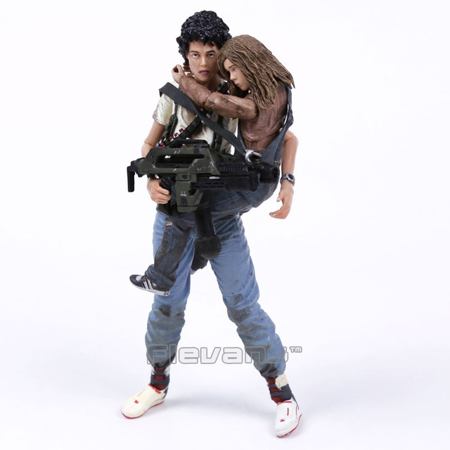 """NECA Alien 2 This time it's war Ellen Ripley & Newt 30th Anniversary PVC Action Figure Collectible Model Toy 2-pack 7"""" 18cm"""