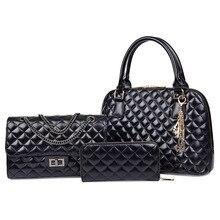 MAYFULL new Spring 3pcs/set women composite bag mother and daughter diamond lattice 3 piece set shoulder handbags