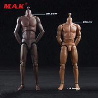 1 6 Male Sports Body Figure Suntan Skin Color Super Flexible Male Mascular Action Figures Collection