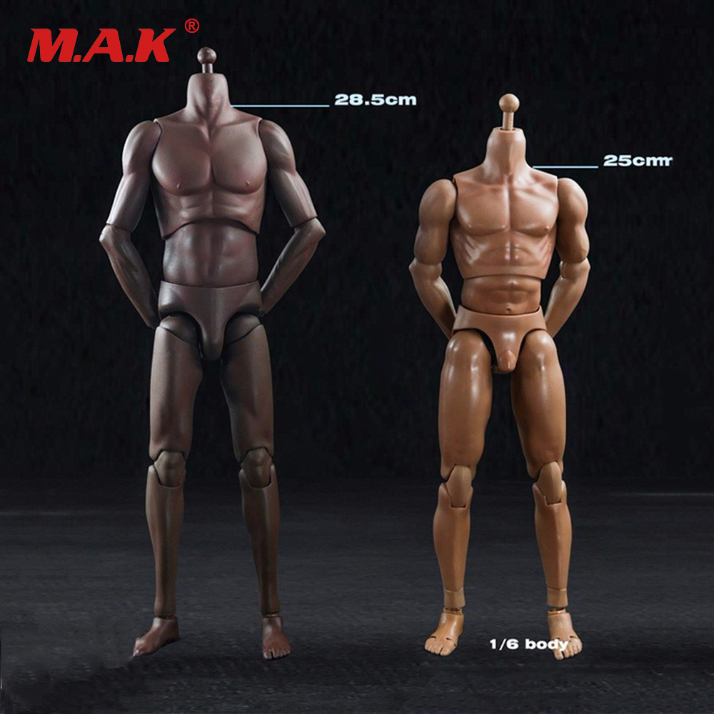 16 Male Sports Body Figure SuntanSkin Color Super Flexible Male Mascular Action Figures Collection Toys