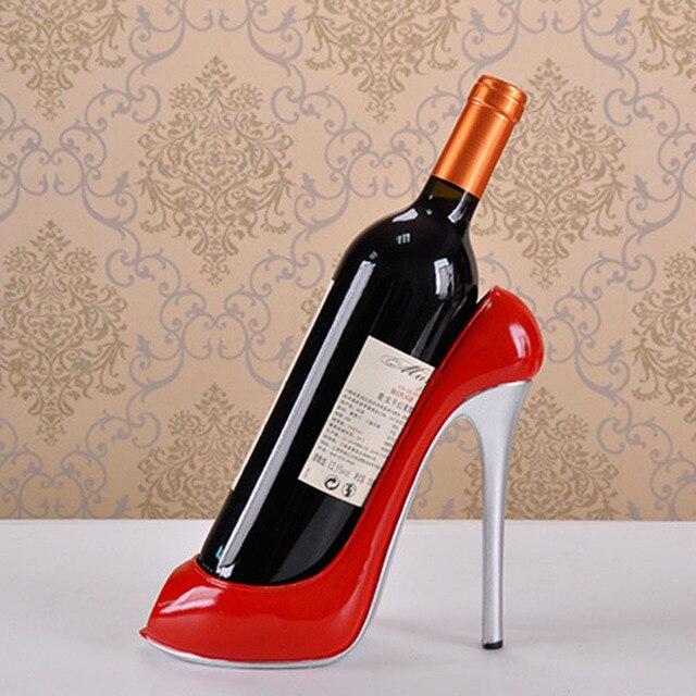 High Heel Shoe Wine Bottle Holder Shoes Design Silicone Wine Bottle Holder  Rack Shelf for Home Party Restaurant 365124ab3e5b