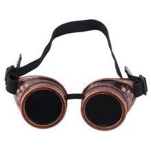 Cyber Goggles Steampunk Glasses Vintage Retro Welding Punk Gothic Victorian Durable Goggles glasses sunglasses 2016 Hot Sale