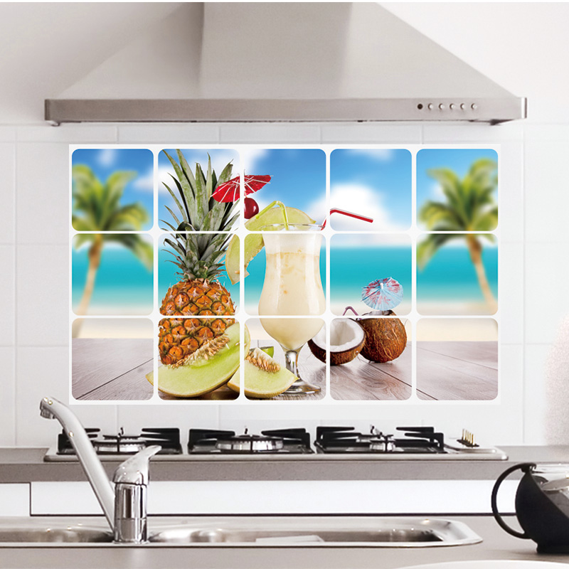 Kitchen Oilproof Removable Wall Stickers Art Decor Home Decals