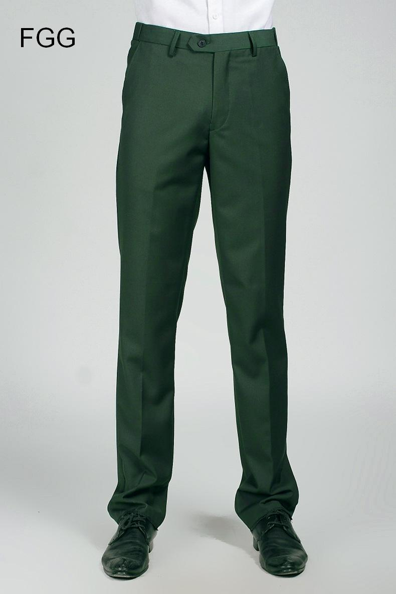 5ba87af99 Groom Wedding Dress Straight Green Pants Party Prom Men Elastic Waist  Business Formal Trousers Pantalones Verde