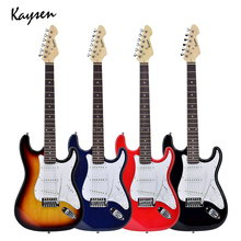 39 inch Electric Guitar High Quality 6 String Acoustic Guitar Concert Performance Guitar Beginner Gift KEG1 high quality small jazz electric guitar