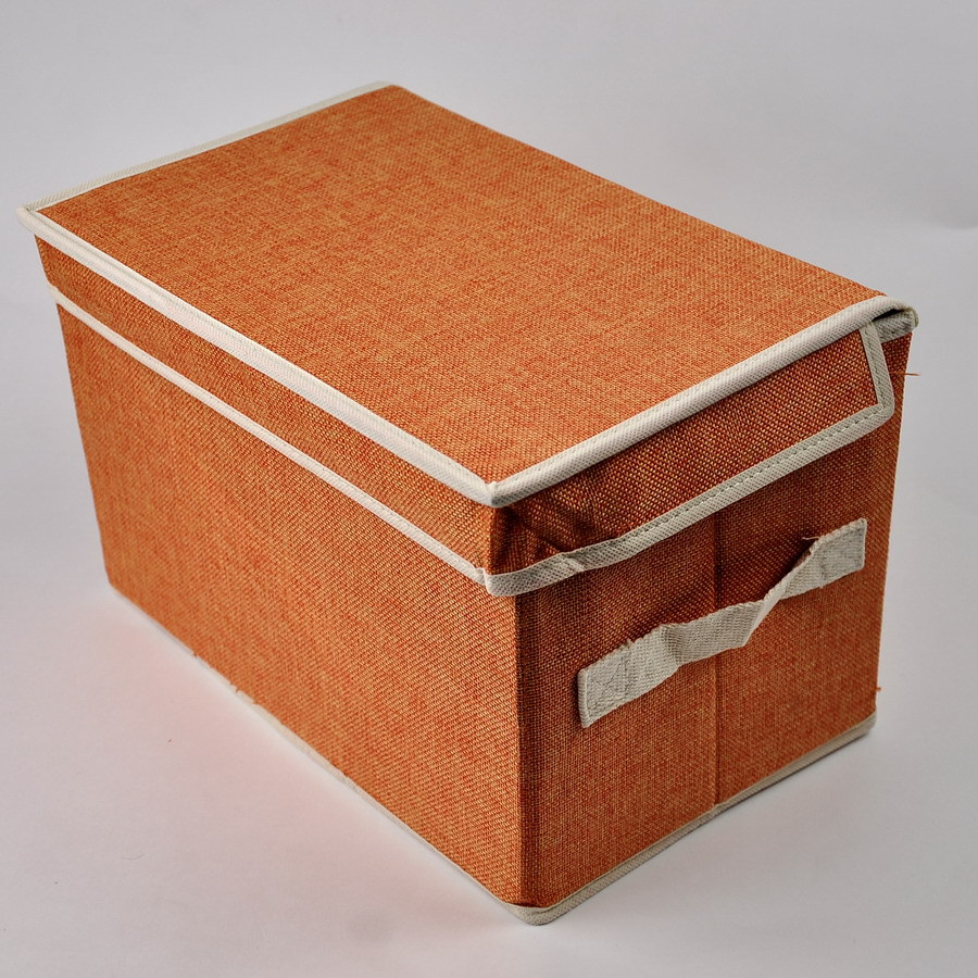 Gentil 2015 Folding Non Woven Fabric Storage Case Color Orange ST001 Storage Box/ Bin Free
