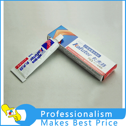 5pcs Kafuter K-703 RTV silicone sealant Single-component waterproof glue Silicone Rubber ...