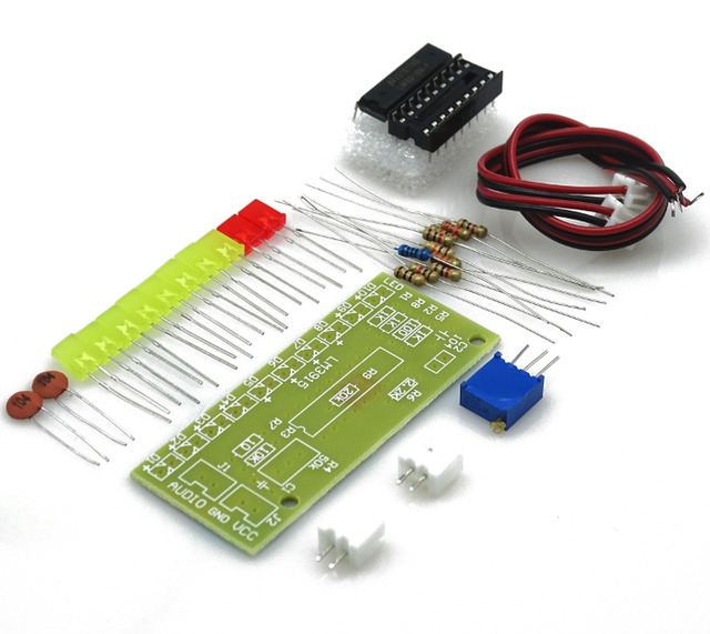 100Set DC 9V-12V Audio Indicator Suite Electronic DIY Kit LM3915 Audio Level Indicator Production Suite