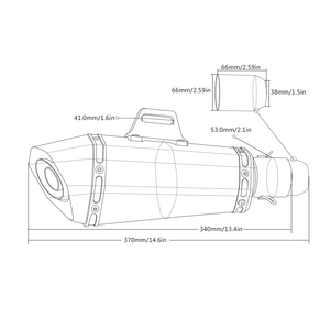 Image 5 - 36 51 мм Универсальная выхлопная труба мотоцикла с ЧПУ с глушителем для Kawasaki zx1400 zx14r zzr1400 z1000 gtr 1400 GTR1400 CONCOURS
