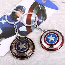 Мстители Капитан Америка Поворотная цепочка для ключей щит брелоки для подарка брелок для ключей от автомобиля chaveiro ювелирные изделия Брелок сувенир