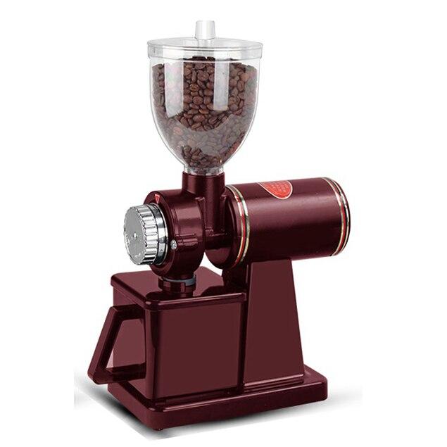 JIQI электрическая кофемолка мельница для фасоли машина плоское шлифование заусениц машина 220 В/110 В красный/черный EU US 7