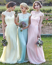 Available Bridesmaid Dresses Lace Chiffon Long Styles Blue Wedding Party Under 50 On