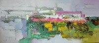 Без рамки абстрактная ручная роспись маслом по номерам домашний декор Настенная картина для гостиной настенная живопись