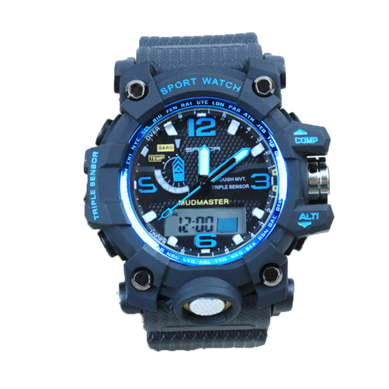 Hot sale Double movement multi functional sports electronic watch students watch Chronograph neutral fashion lovers watches