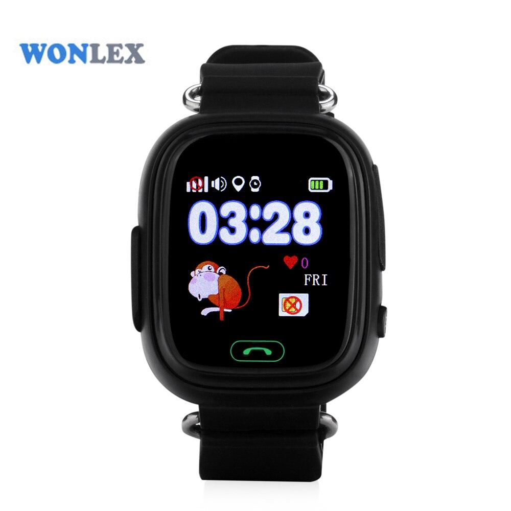 Wonlex 2016 Новинка mtk2503 фунтов/GPS/Beidou/WI-FI позиционирования Сенсорный экран смартфон дети GPS часы ребенок трекер анти -потерянный часы