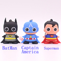 Cute super hero batman captain america superman 32GB 16GB 8GB 4GB USB Flash Drive Pen Drive Memory Stick U Disk Pendrives gift