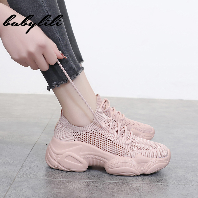 Fashion Sneakers Women Shoes New Sneakers For Women 2019 Platform Shoes Women Flats Female Chunky Sneakers Basket Femme Shoes