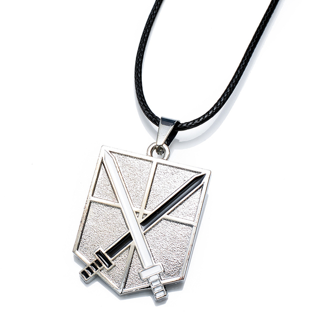 Anime AOT Cosplay Metal Pendant Necklace