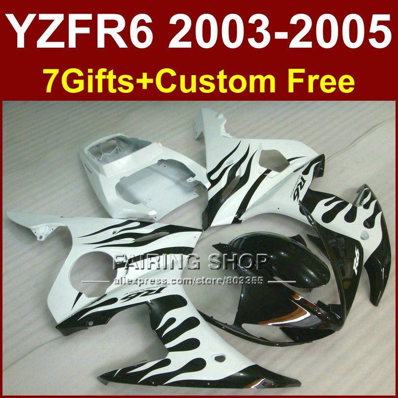 R6 body repair parts for YAMAHA r6 Motorcycle fairings sets 03 04 05 YZF R6 2003 2004 2005 white black fairing kit EJU kemimoto r6 motorcycle complete full set of fairing bolts bolt kit body screws for yamaha yzf r6 2006 2007 r6