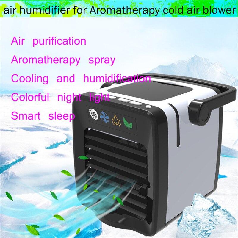 Climatiseur Portable Mini refroidisseur d'air ventilateur USB aromathérapie climatiseur intégré réservoir d'eau 200 ML avec câble USB 4D12
