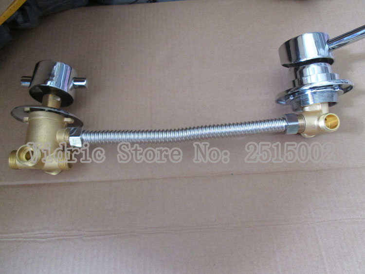 Customized 2/3/4/5 gears intubation/screw thread style split valve water tap, Bathroom mixing valve faucet with connecting hose 3 tap connect 3 4 5 gear screw thread thermostatic faucet valve shower room mixing valve cold and hot water switch separator