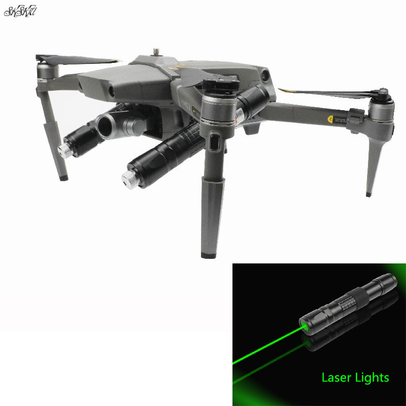 Drone Night Flight Laser Lights Searchlight & Landing Gear Extended Bracket Support For GoPro 7 6 5  For DJI Mavic 2 Pro / Zoom